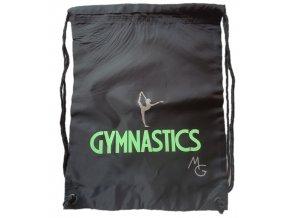 Gymsack Gymnastics černý + zelená