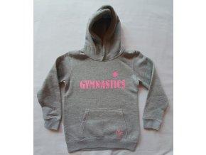 Mikina s kapucí Gymnastics gray, pink