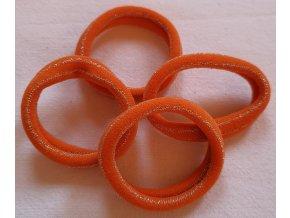 Gumičky super oranžová s proužkem, větší