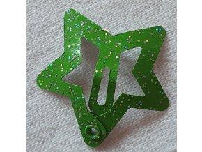 Sponky hvězdičky malé zelené