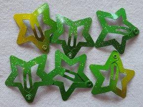SPonky hvězdičky malé zelené ombré