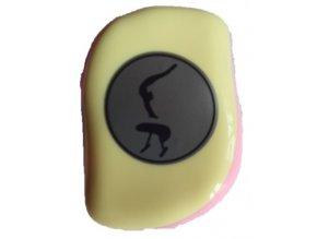 Hřeben s krytem pastel žlutá, růžová