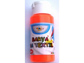 barvy na textil neon orange 60 ml