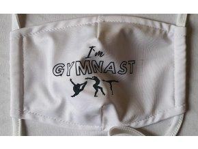 Rouška bílá I am Gymnast