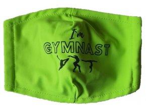 Rouška zelená I am Gymnast