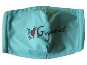 Rouška modrá I love gymnastics