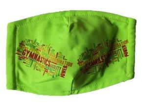 Rouška zelená Gymnastics mix