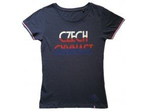 Tričko Czech Gymnast trikolora navy