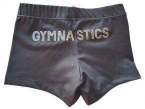Kraťasy micro black Gymnastics silver