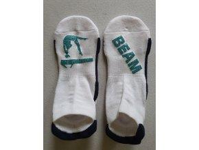Ponožky Sneaker Beam světle modrá