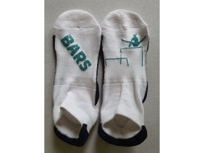 Ponožky Sneaker Bars světle modrá