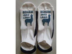Ponožky Sneaker Běhám jako lama světle modrá