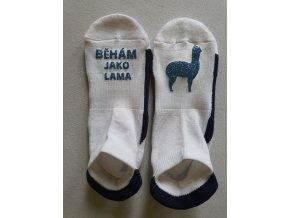 Ponožky Sneaker Běhám jako lama1+1 světle modré