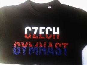 tričko Czech gymnast černé