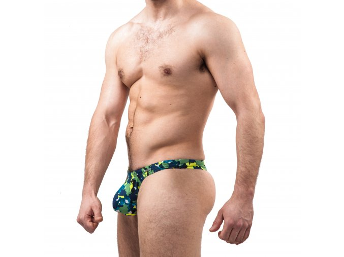 GymSwim Army push-up men´s thong green/yellow