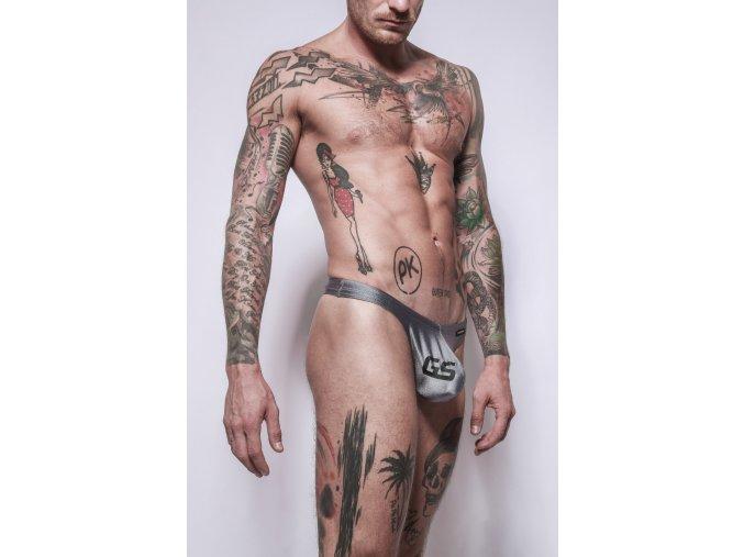 Gymswim icon bulge swim thong gs-silver