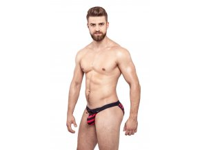 GymSwim Nautic push-up men´s sport brief red/dark blue