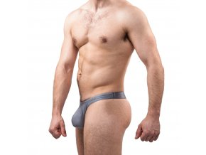 GymSwim Star push-up men´s thong silver shine