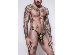 Gymswim party boy bulge swimunder mini thong multicolor/black
