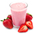 jahodový milkshake