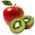 jablko - kiwi