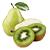 hruška - kiwi