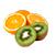 pomeranč - kiwi