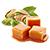 karamel - pistácie