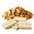 bílá čokoláda - kousky arašídů
