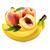 banán - broskev