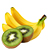 kiwi - banán