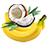 banán - kokos