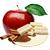 bílá čokoláda - jablko - skořice