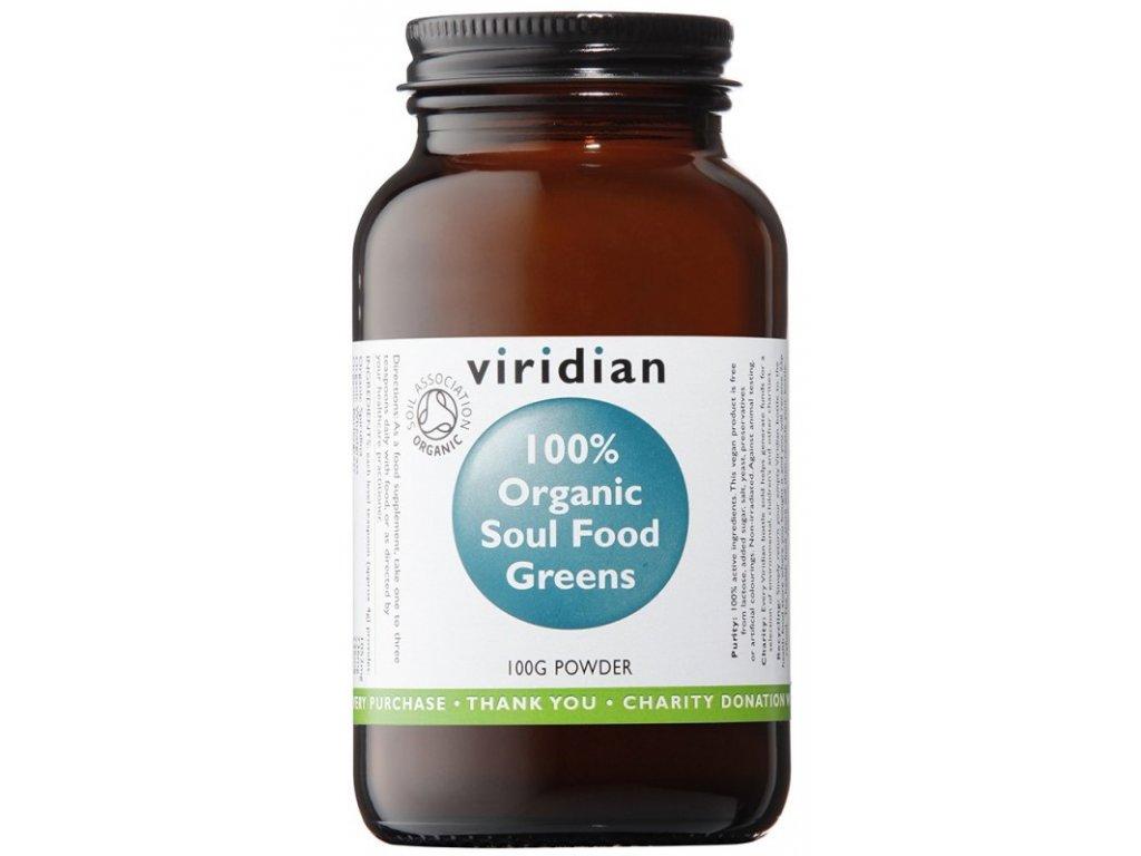 Viridian 100% Organic Soul Food Greens (Směs zelených superpotravin) 100g