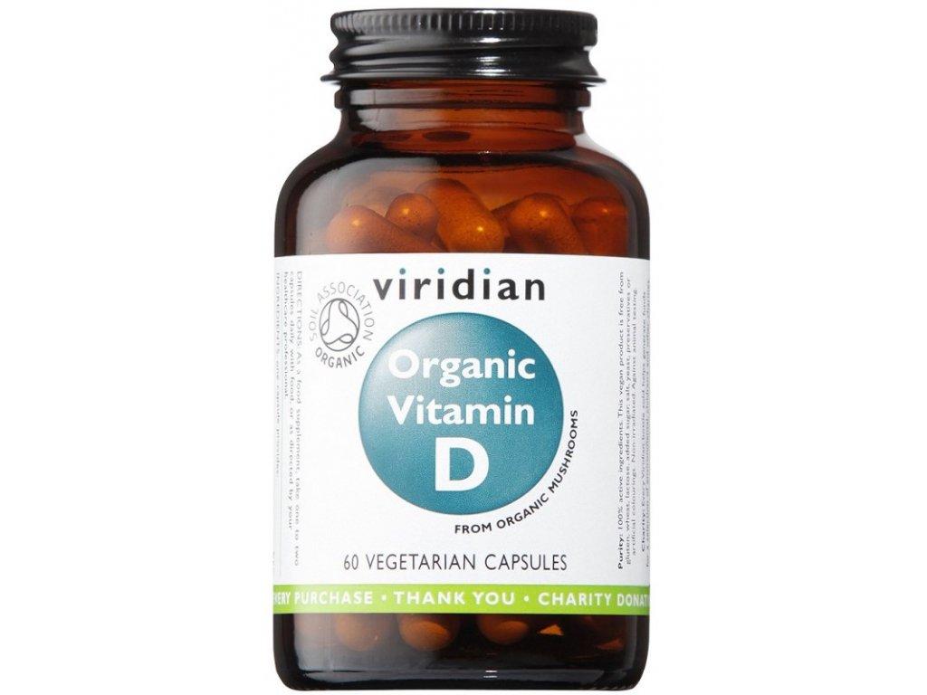 Viridian Organic Vitamin D 60kapslí