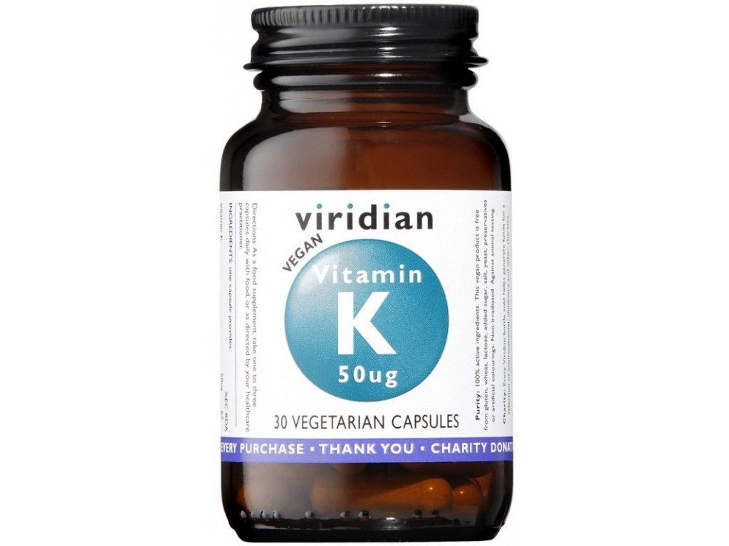 Viridian Vitamin K 50ug 30kapslí