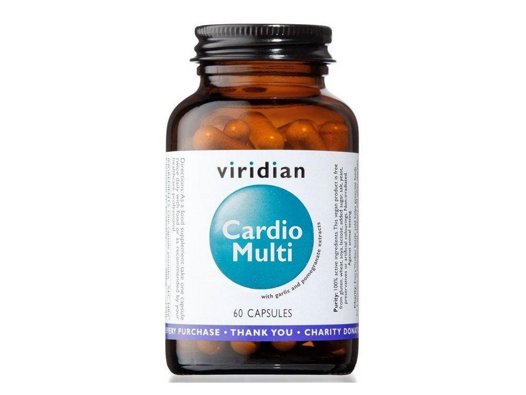 Viridian Cardio Multi (Multivitamín pro kardiovaskulární systém) 60 kapslí