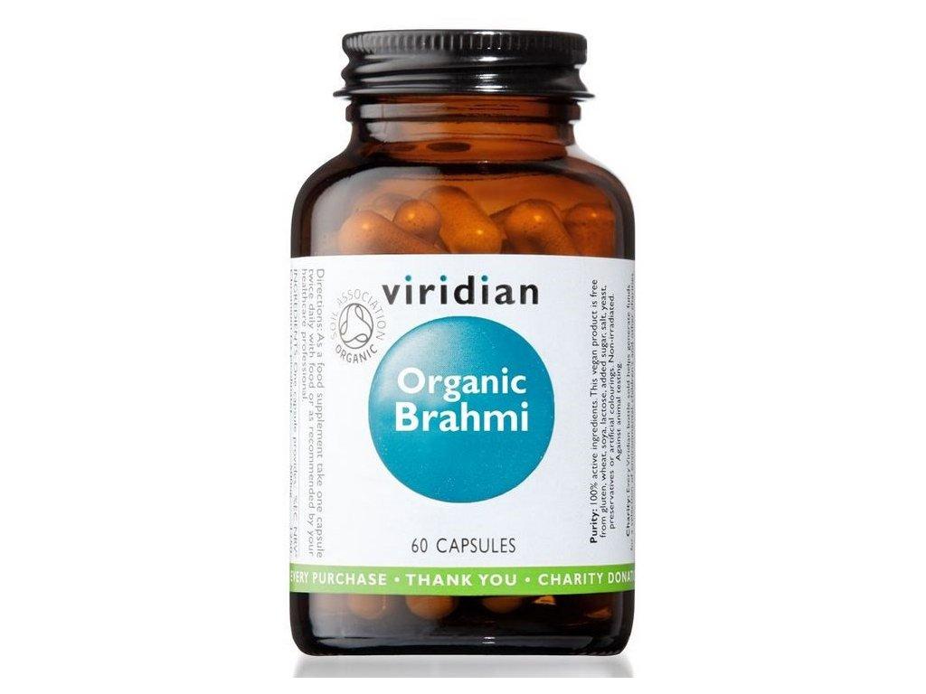 Viridian Brahmi Organic 60 kapslí