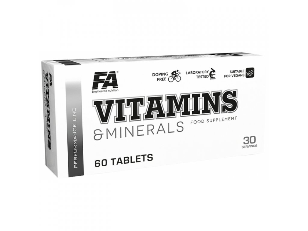 Fitness Authority Vitamins and Minerals 60tablet