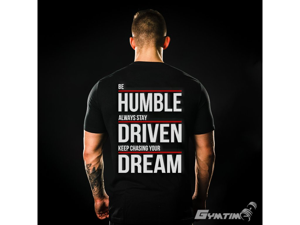 Pánské Tričko Gymtime - BE HUMBLE