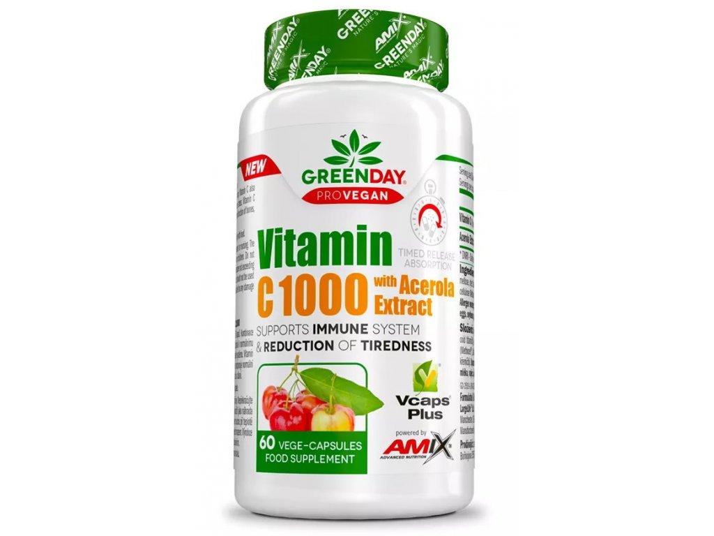 Amix ProVegan Vitamin C 1000 s extraktem z aceroly 60kapslí
