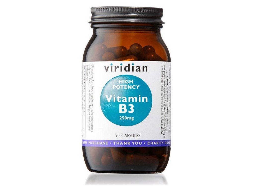 14228 viridian high potency vitamin b3 250 mg 90 kapsli