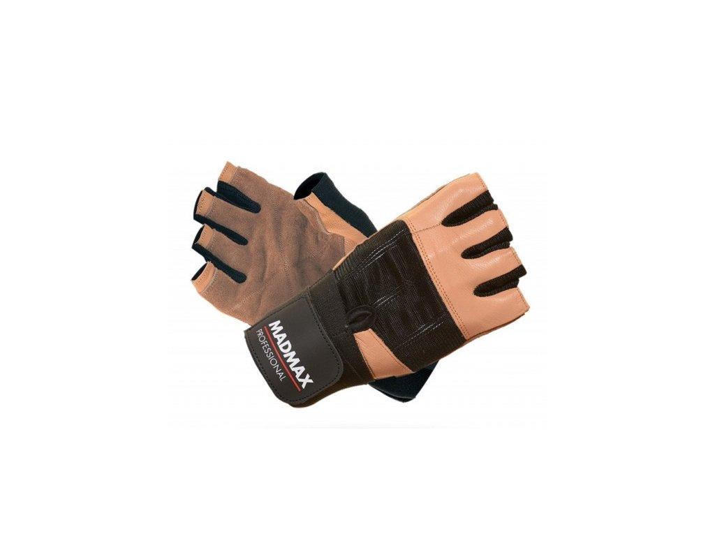 MadMax rukavice Professional MFG269 hnědé
