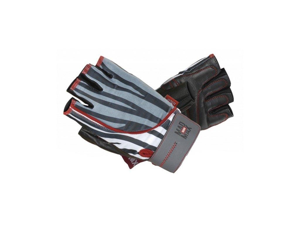 MadMax rukavice Nine Eleven MFG911 zebra