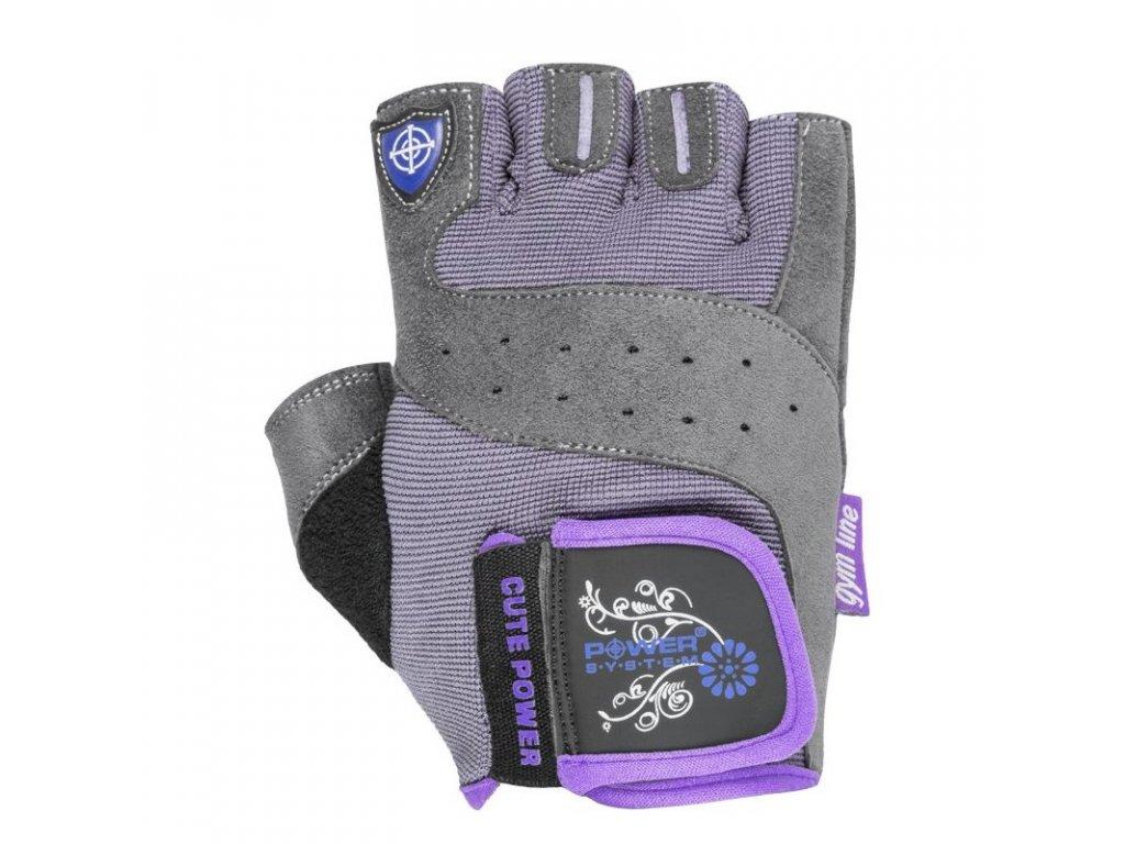 Power System fitness rukavice Cute Power fialové