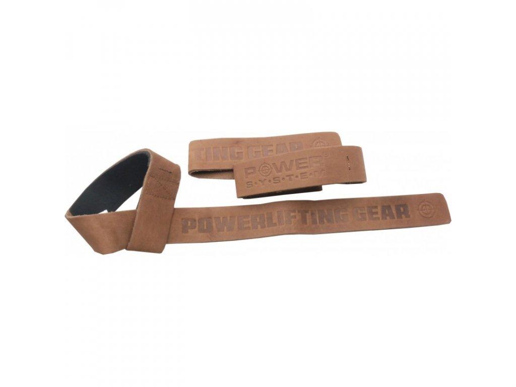 Power System Posilovací Kožené Trhačky Leather Straps