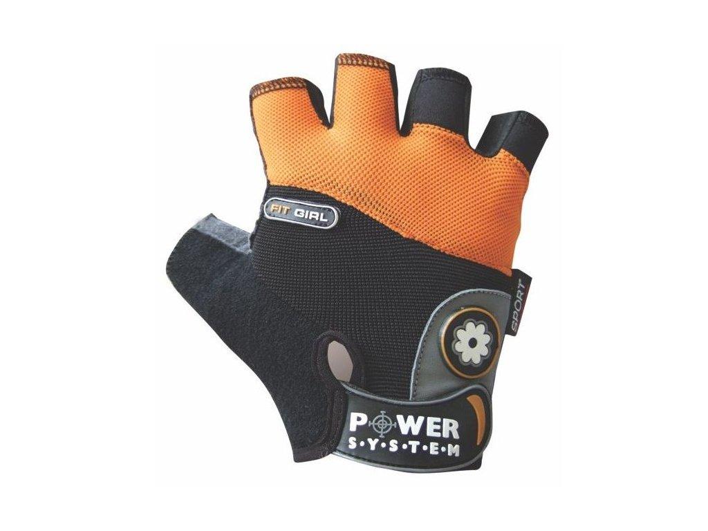 Power System fitness rukavice Fit Girl oranžové