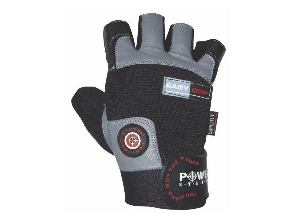 Power System fitness rukavice Easy Grip šedé