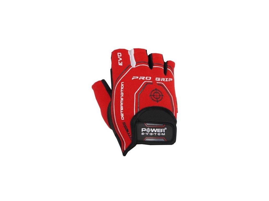Power System Fitness Rukavice Pro Grip Evo červené