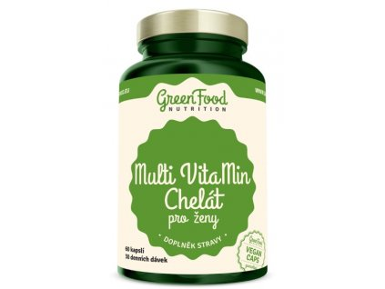 GreenFood Multi VitaMin Chelát pro ženy 60kapslí